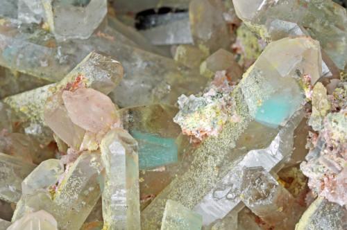 cristaux de quartz avec ajo•te (Messina Mine, Messina - RŽpubliq