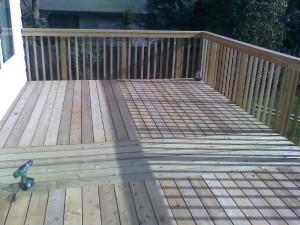"""Weathered"" Cedar Deck"
