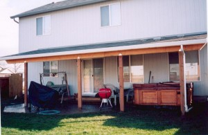 Backyard Patio Cover (Shed Style)